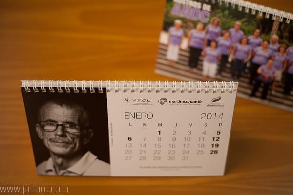 Calendario Rostros de ANOC 2014 - Novelda