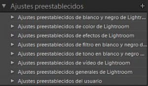 Presets de Lightroom