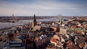 Vistas de Riga desde la Torre de San Pedro