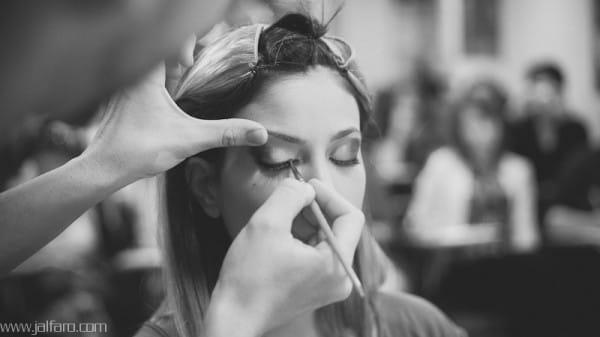 Carla Pozo maquillada por Aaron Blanco